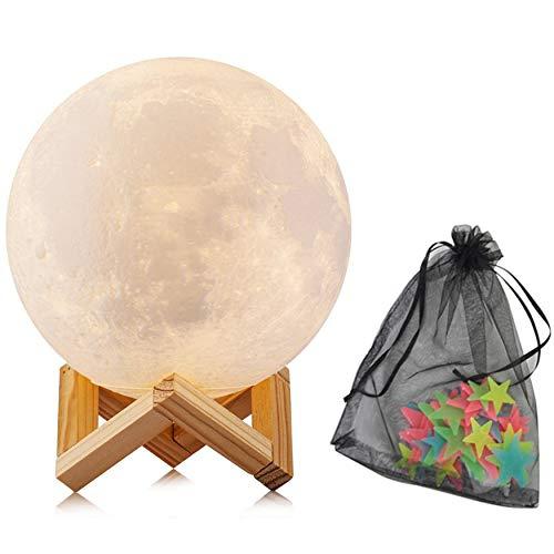 Lámpara Luna táctil 15 cm solo 5.7€