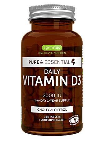 Suplemento Vitamina D3. 365 Comprimidos. - Pure Essentials