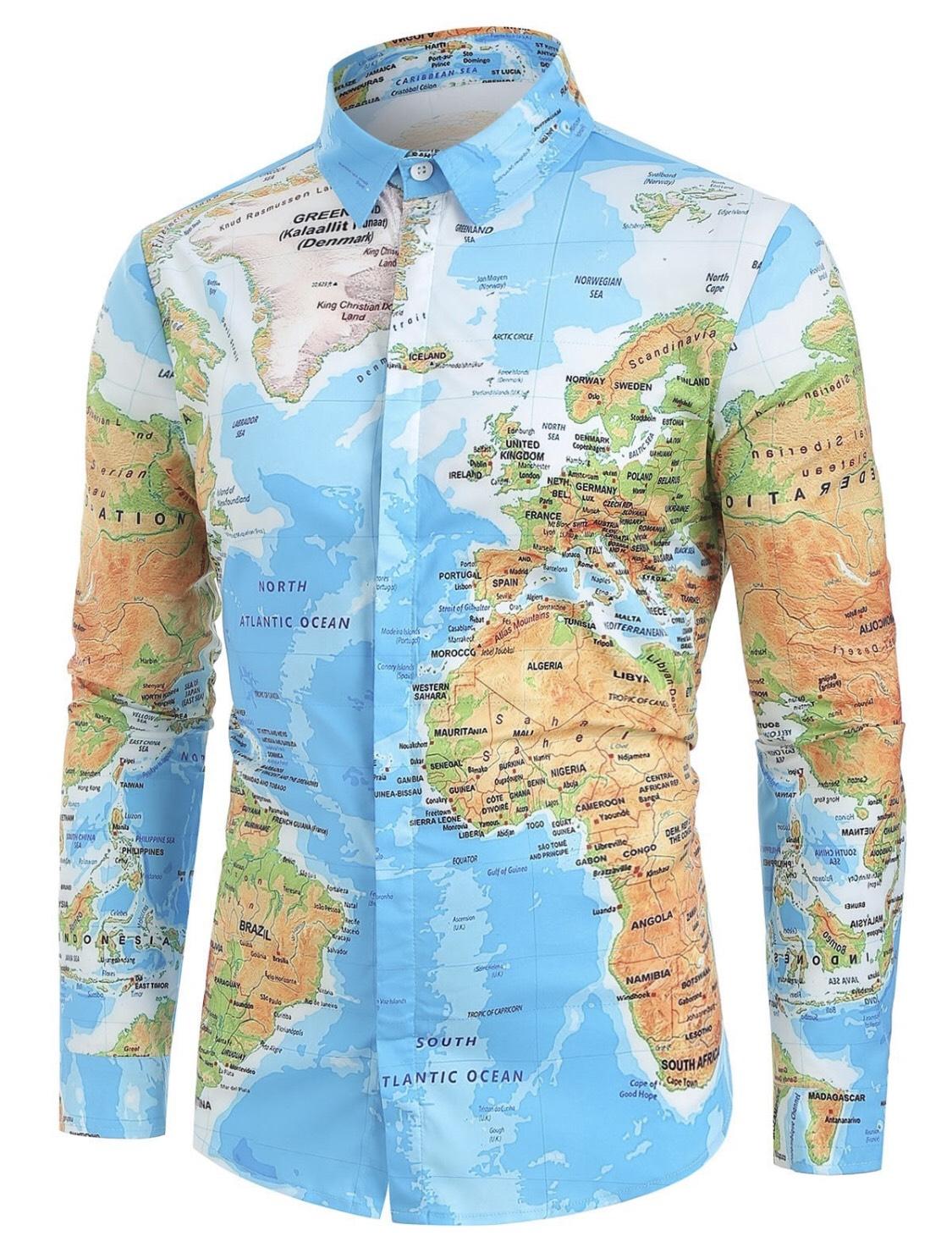 Camisa Mapa Mundial