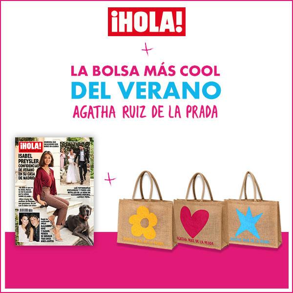 Bolso para el verano de Ágatha Ruiz de la Prada al comprar el ¡Hola!
