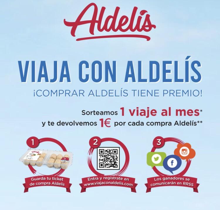Aldelís reembolso 1€ + sorteo viaje