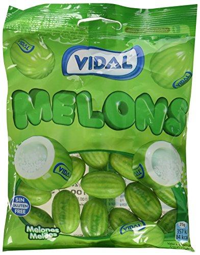 14 paquetes de 100gr de chicles melones