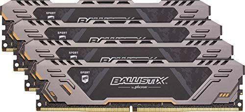 Ballistix Sport AT BLS4K8G4D32AESTK Memoria DDR4 de 32GB Kit (8GB x4) (3200 MT/s, PC4-25600, Single Rank x8, DIMM, 288-Pin)