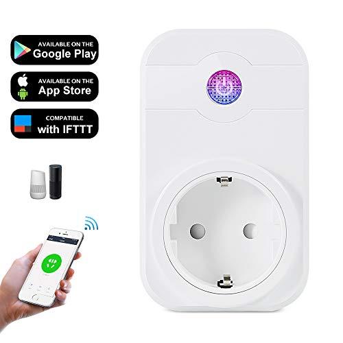 Enchufe wifi inteligente Compatible con Alexa Echo Google Home Asistente.