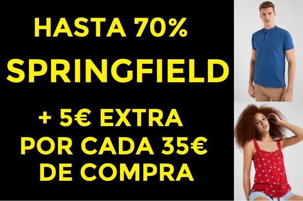 Hasta un 70% + 5€ EXTRA en SPRINGFIELD