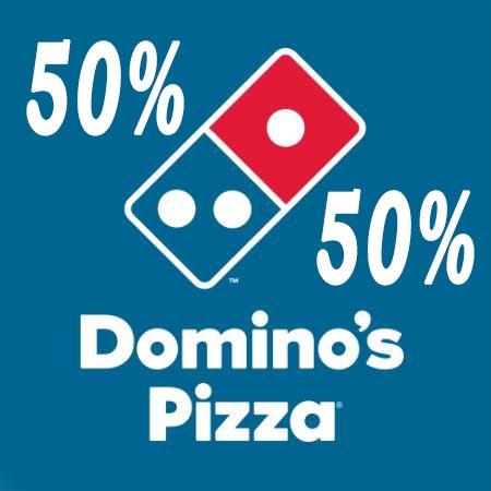 50% en todo Domino's Pizza