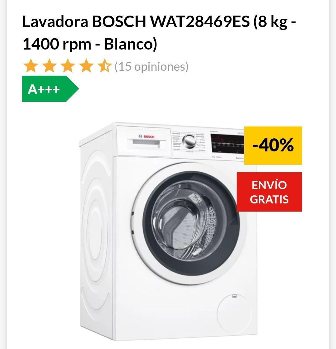 Lavadora BOSCH WAT28469ES (8 kg - 1400 rpm - Blanco)