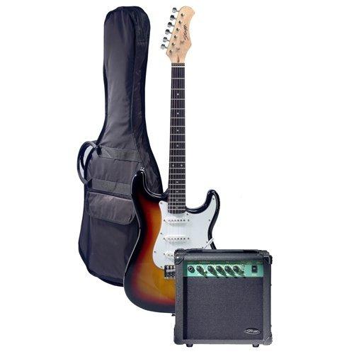 Stagg ESURF 250 SB UK - Guitarra eléctrica (tipo sunburst)