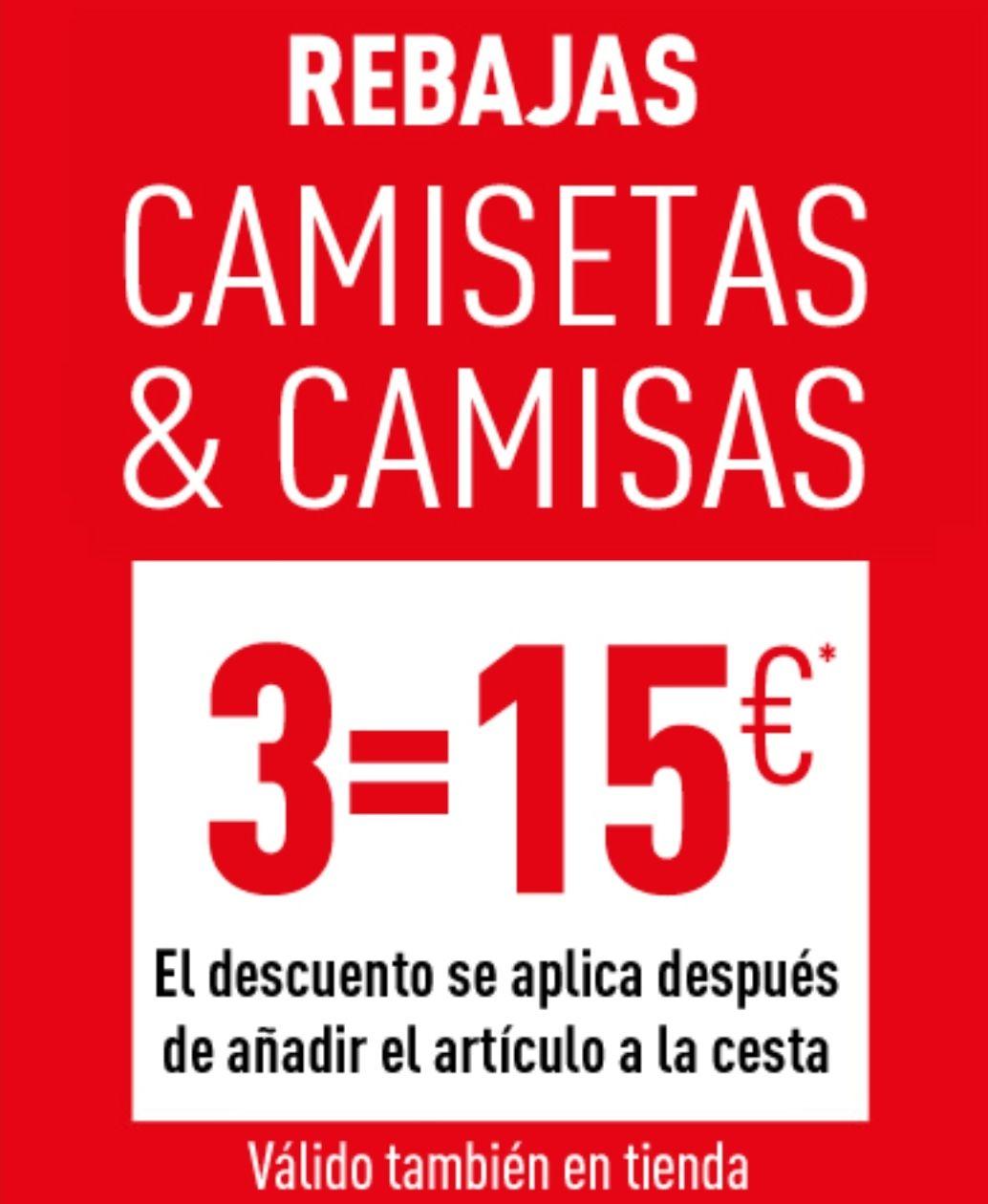 3 camisetas x15€ en Pimkie (REBAJAS)