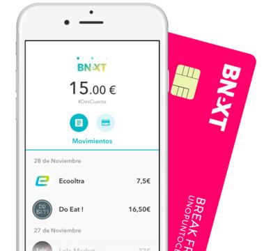 Tarjeta Bnext sin comisiones + 10€ GRATIS