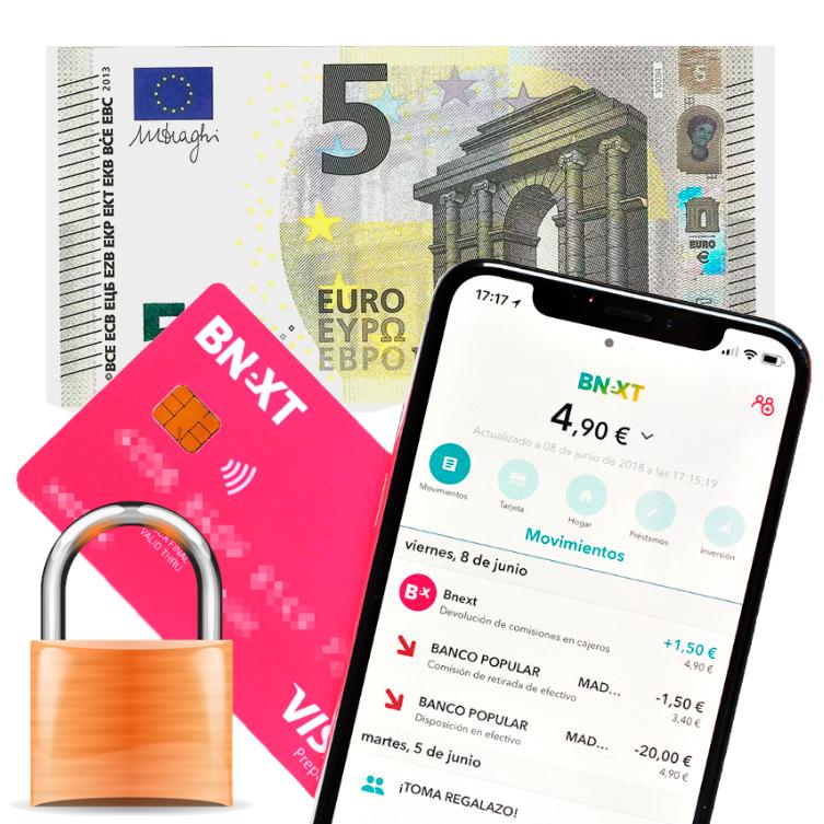 Tarjeta Bnext + 5€ GRATIS [NUEVOS USUARIOS]