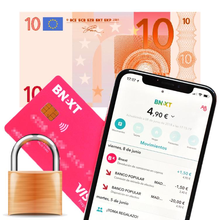 Tarjeta Bnext + 10€ GRATIS [NUEVOS USUARIOS]