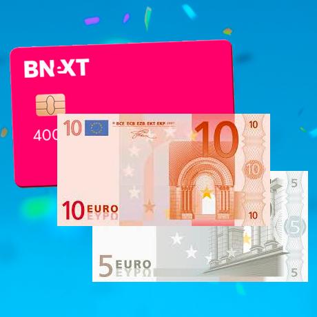 Tarjeta Bnext + 15€ GRATIS [NUEVOS USUARIOS]