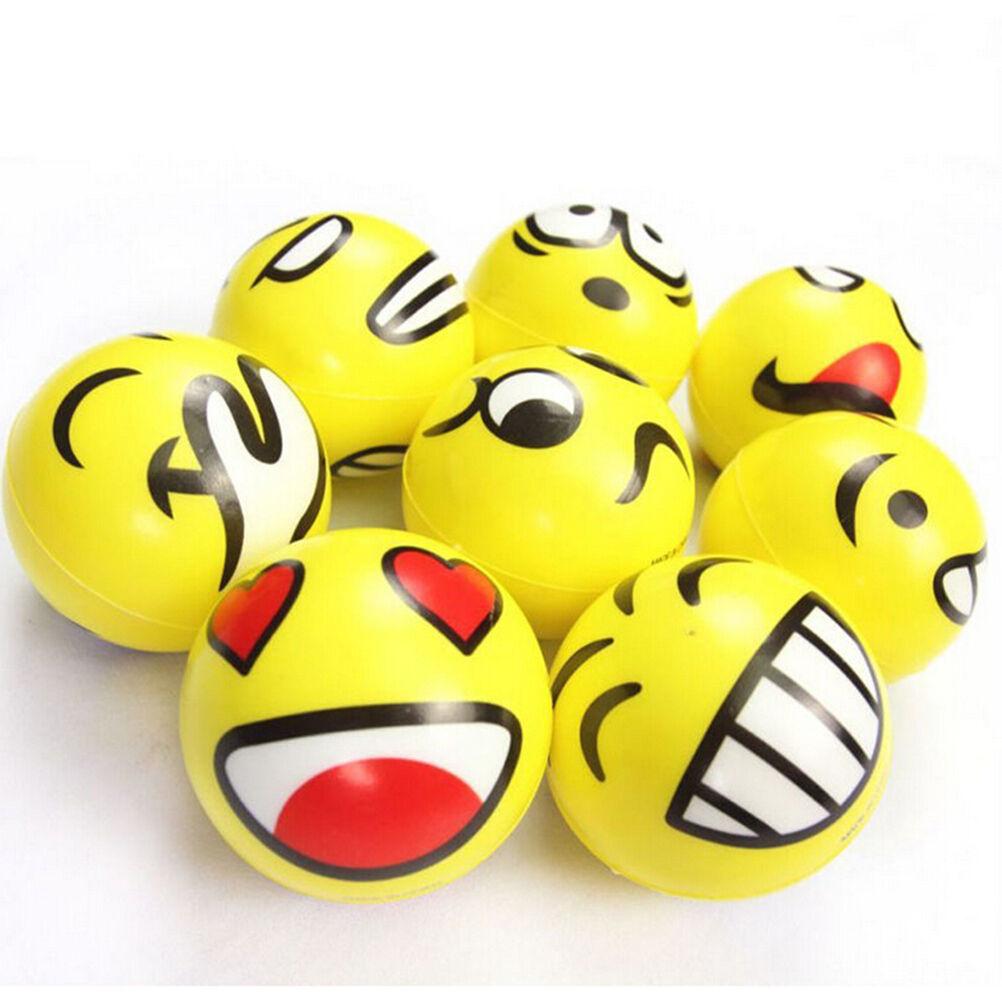 Pelota emoji para el estrés