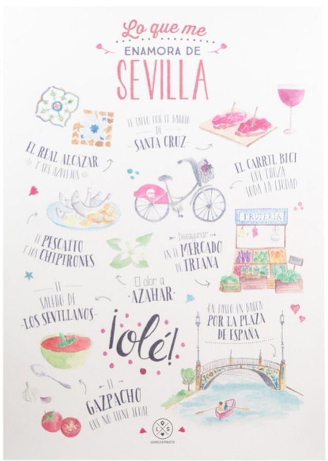 MR. WONDERFUL  Lámina Lovely Streets Lo Que Me Enamora de Sevilla (Lámina), tambien lo hay de Valencia al mismo precio