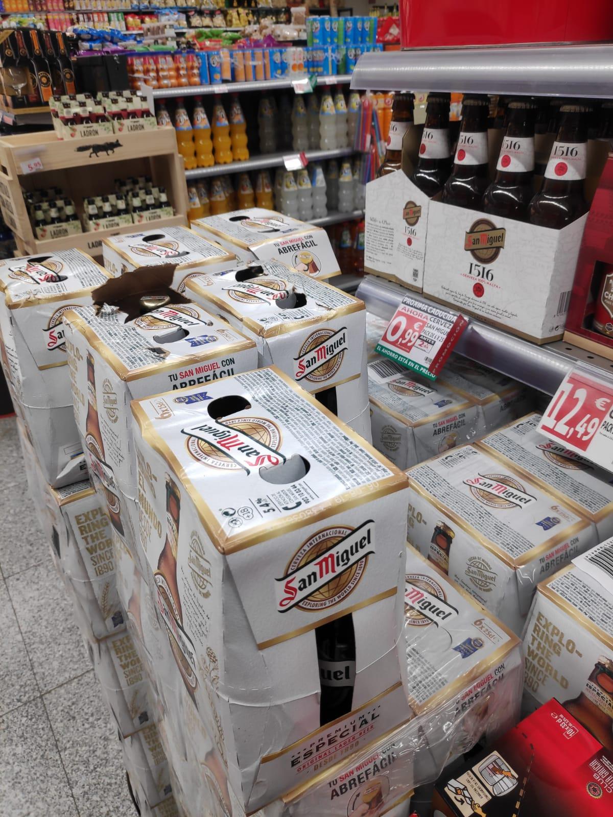Cerveza San Miguel pack 6 x 25 cl (Alcampo Alcorcón)