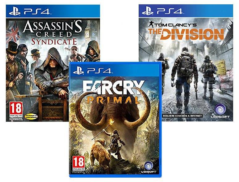 3x2 Ubisoft Selección de juegos solo 46€