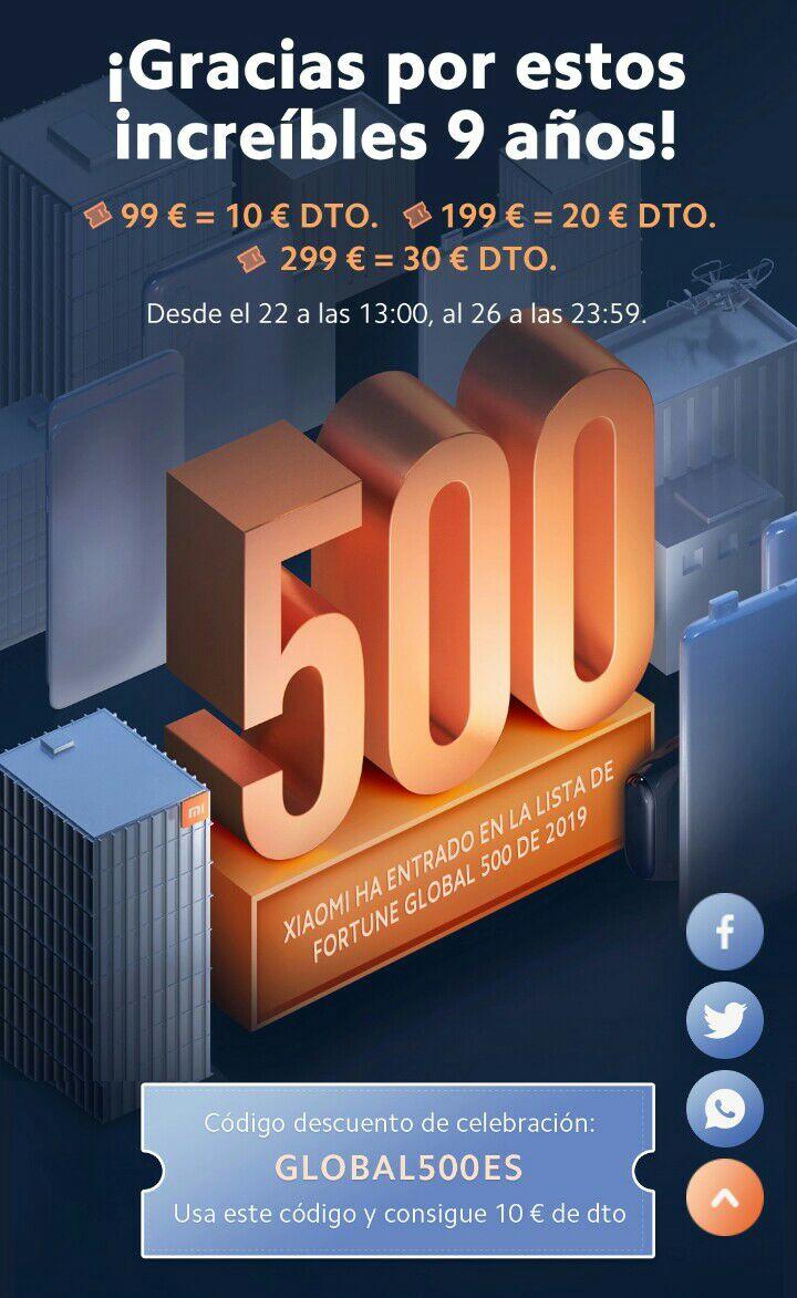 10/20/30€ DE DESCUENTO EN XIAOMI