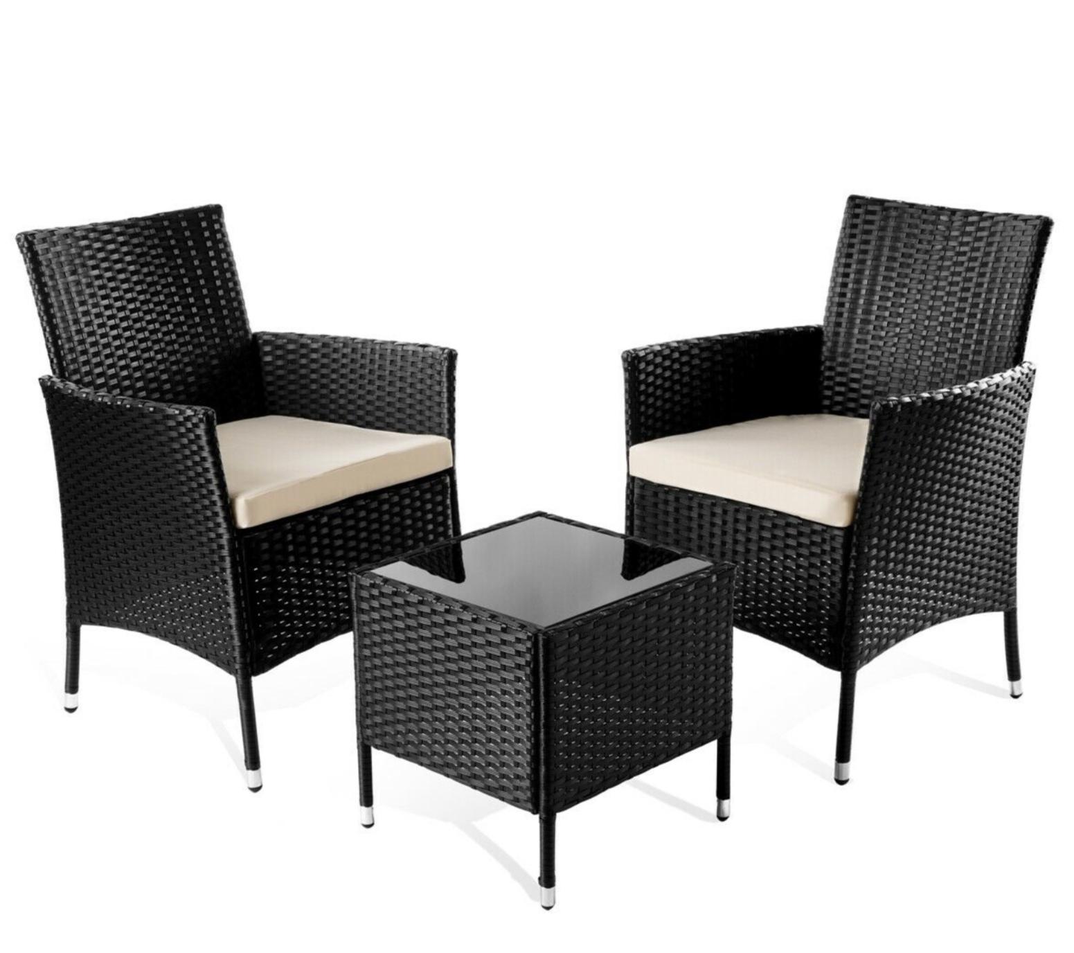 Set de muebles de jardín terraza o balcón. Mesa+2 sillas