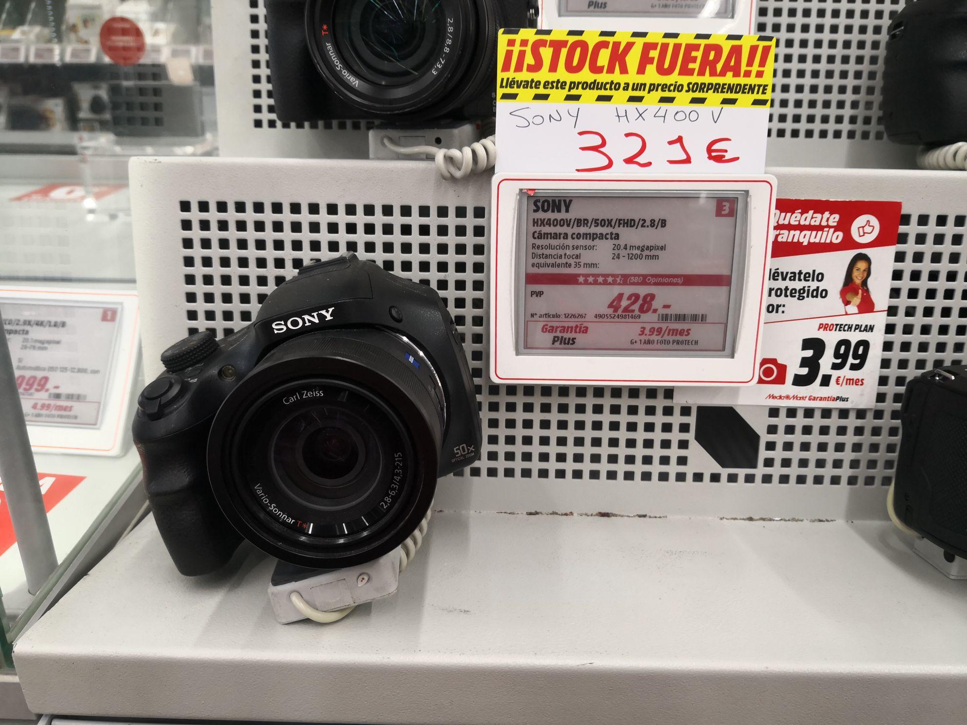 Cámara compacta Sony DSC-HX400V de 20,4 MP