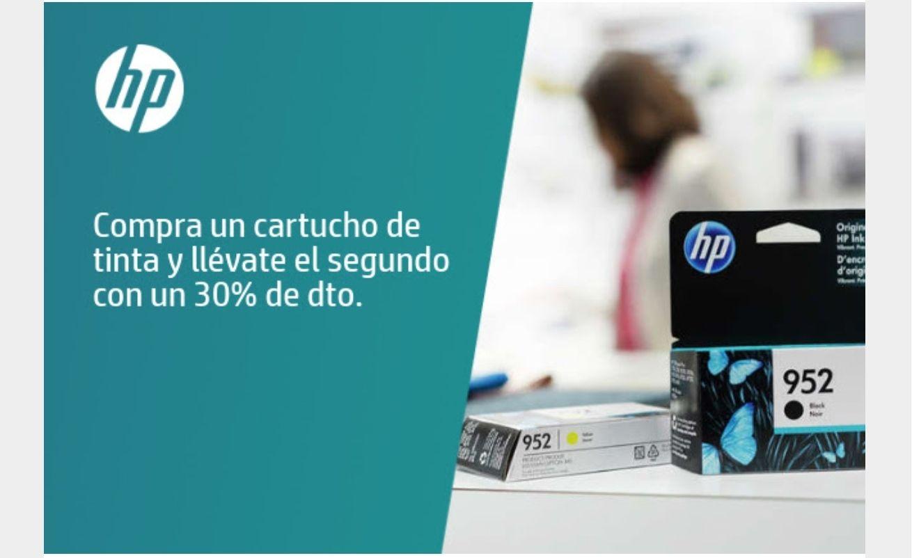 Cartuchos de tinta HP al 30% (2ª unidad)