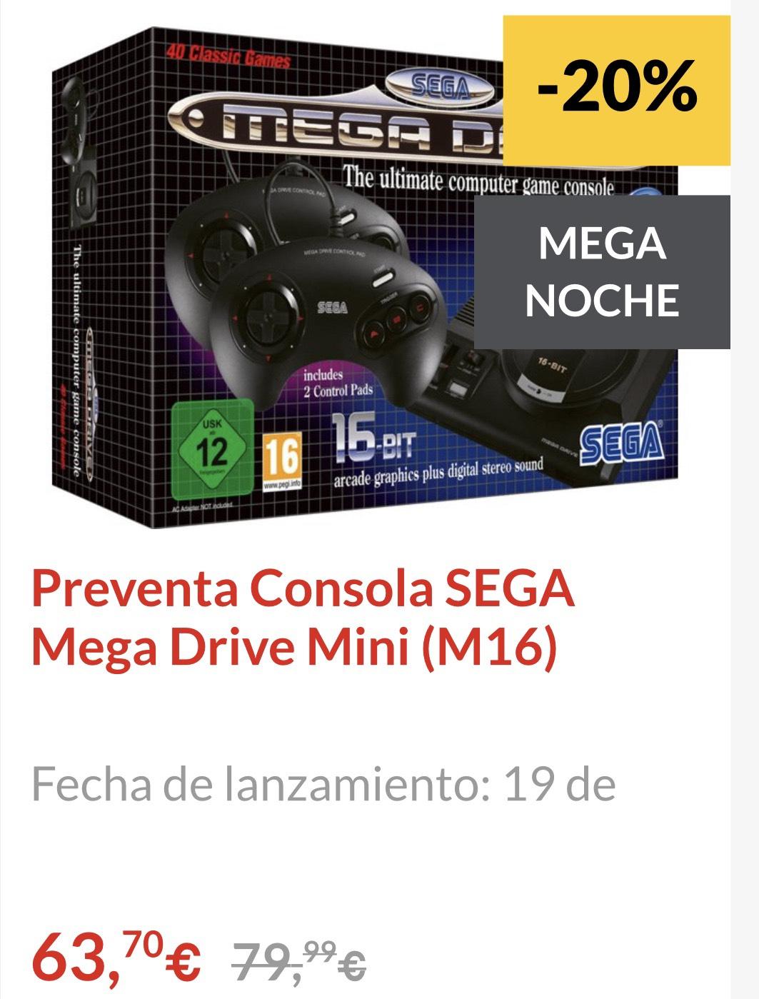 SEGA mega Drive mini (preventa)