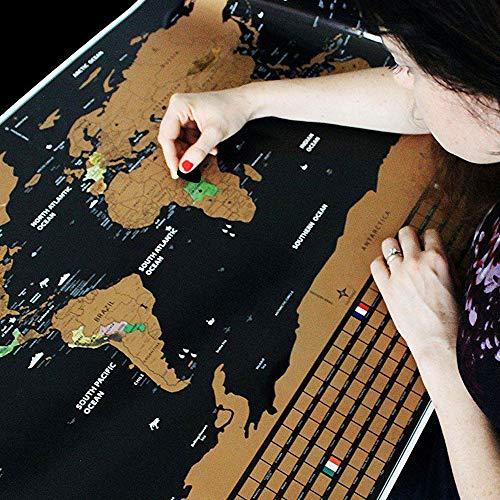 50% En Mapa Mundi Vintage para ir marcando los países visitados.