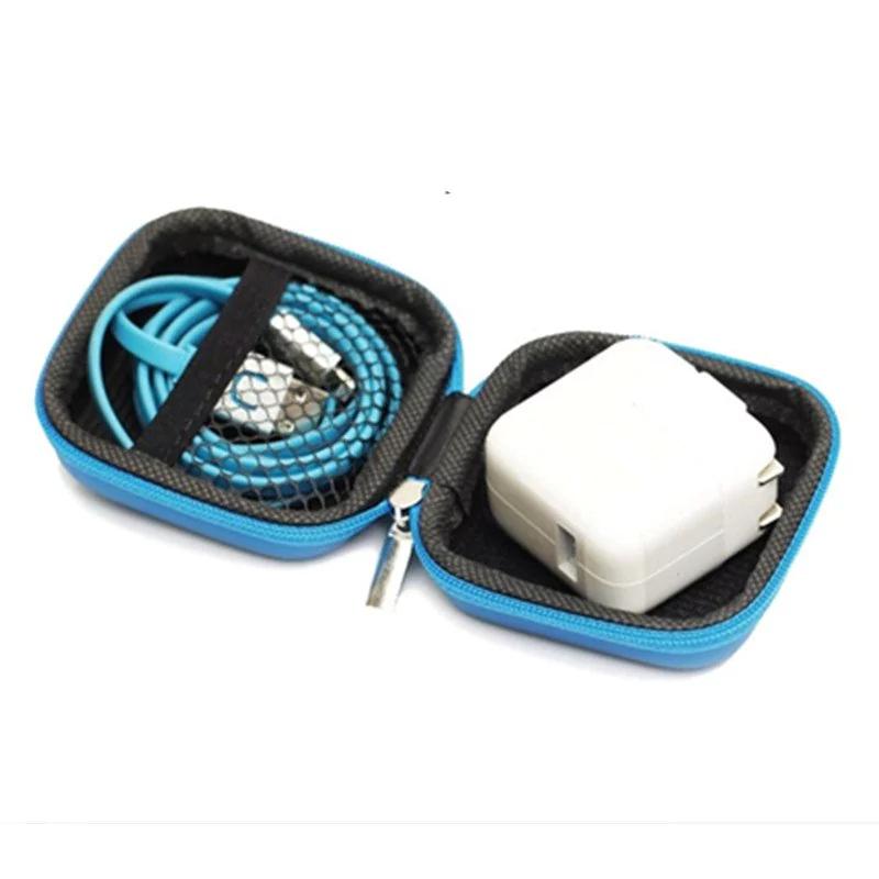 Estuche porta (cables, cargadores, auriculares, usb...) azul