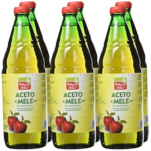 6 unidades de la finestra Sul cielo vinagre de manzana de 750 ml cada una