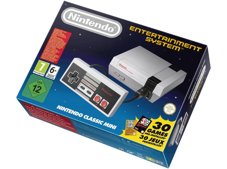 Nintendo Classic Mini HW NES, 30 juegos, Mando, Gris