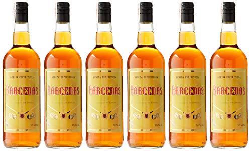 6 botellas de barcenas calvado 30 grados de 1000 ml