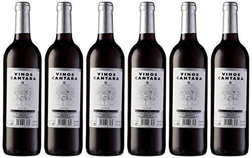 6 botellas de cantara vino Tinto mesa de 750 ml cada una
