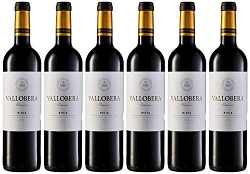 6 botellas de San jamón vallobera vino Tinto Crianza de 750 ml cada una
