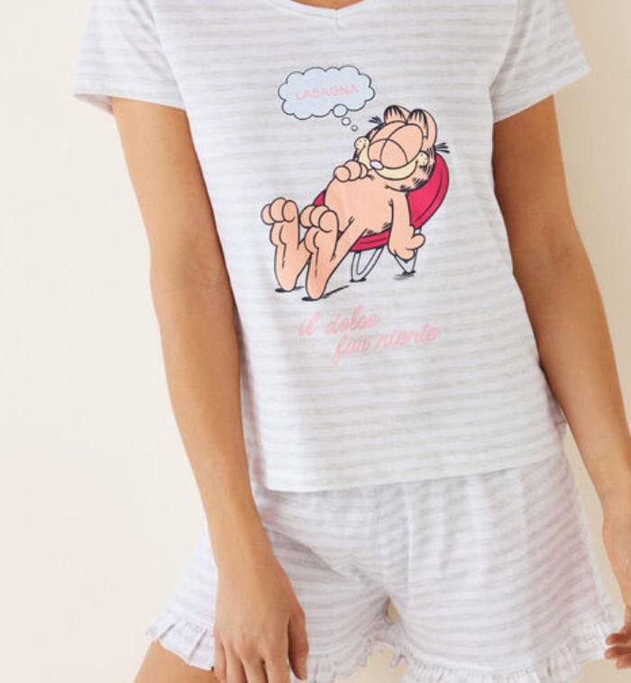 Pijama corto de rayas Women Secret