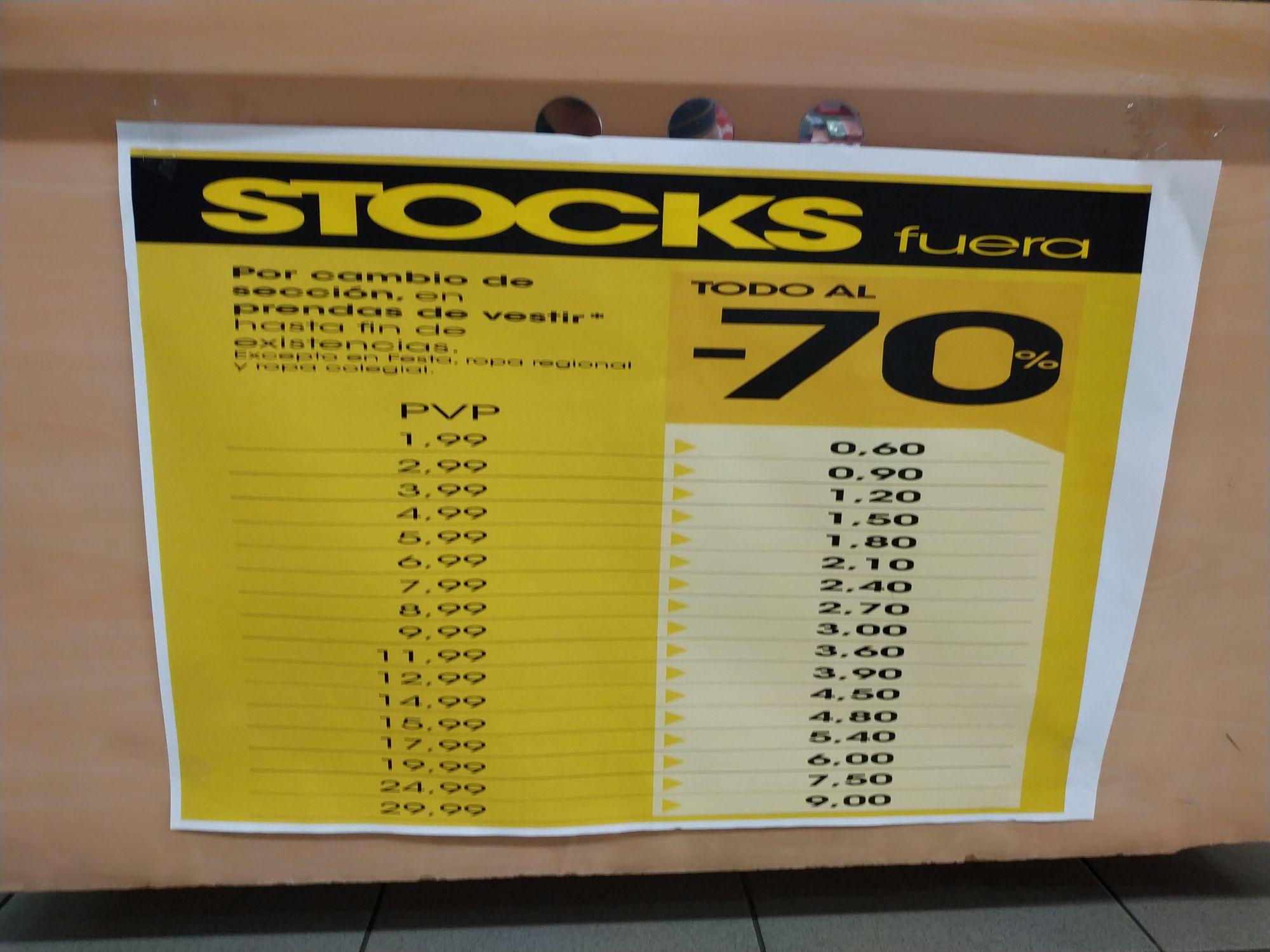 Ropa al 70% sobre precio ya rebajado en Eroski Max Center (Barakaldo)