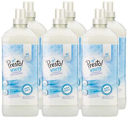 Presto! Suavizante concentrado blanco, 360 lavados (6 Packs, 60 cada uno)