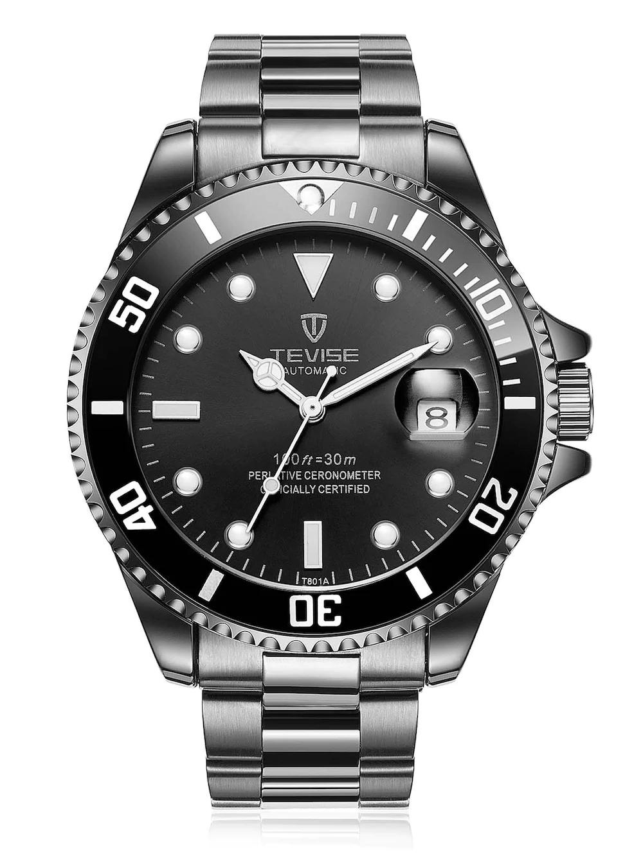 Reloj TEVISE T801A con correa de acero inoxidable