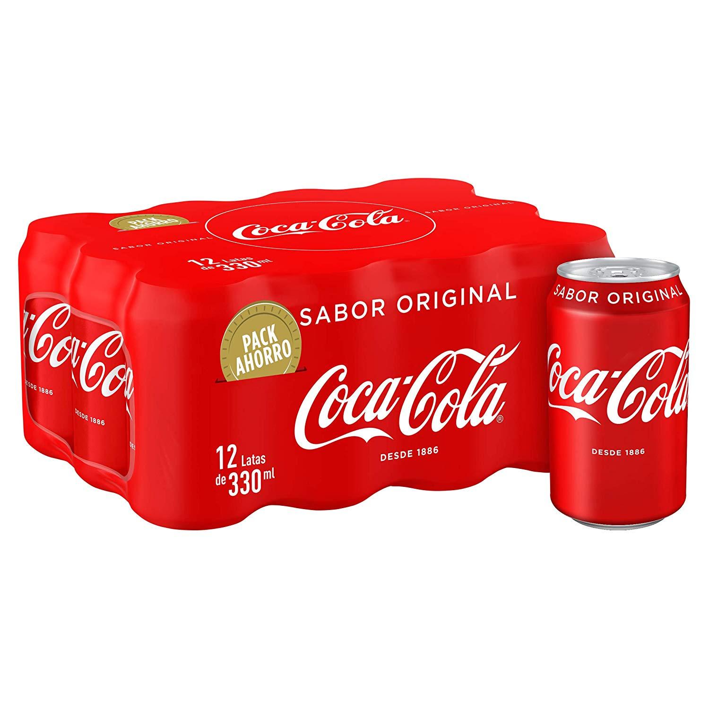 12 latas de Coca Cola por 1,28 en Prime Now Madrid