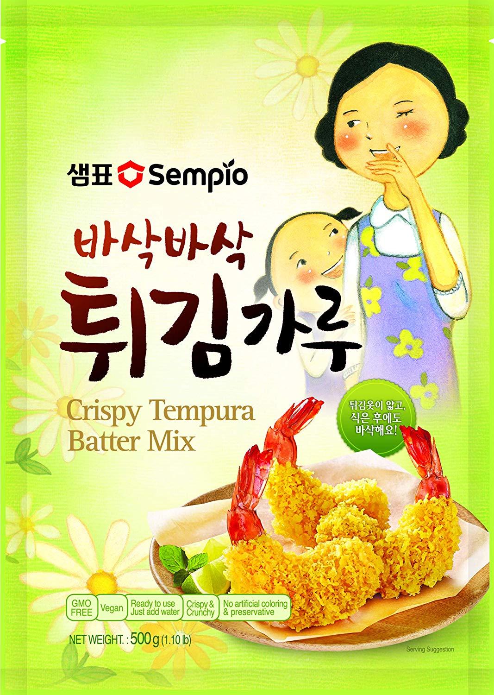 20 unidades de sempio tempura de 500 gr cada una