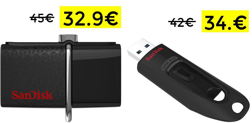 SanDisk Ultra 128GB solo 32.9€