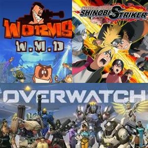 Juega Gratis Overwatch, Naruto to boruto y Worms (Xbox y PC)