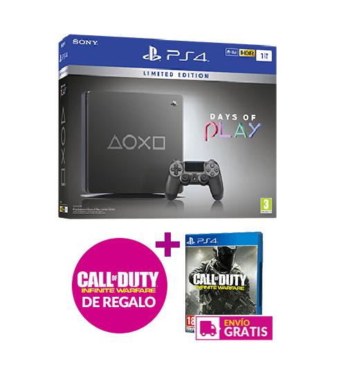 PS4 Slim 1tb Days of play + COD Infinite Warfare