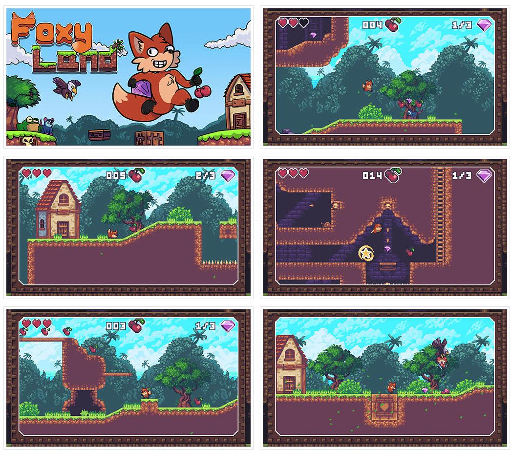 FoxyLand, excelente juego de plataformas (Android)