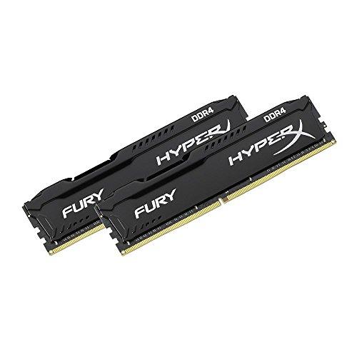 HyperX Fury - Memoria RAM de 16 GB (DDR4, Kit 2 x 8 GB, 2666 MHz, CL16)
