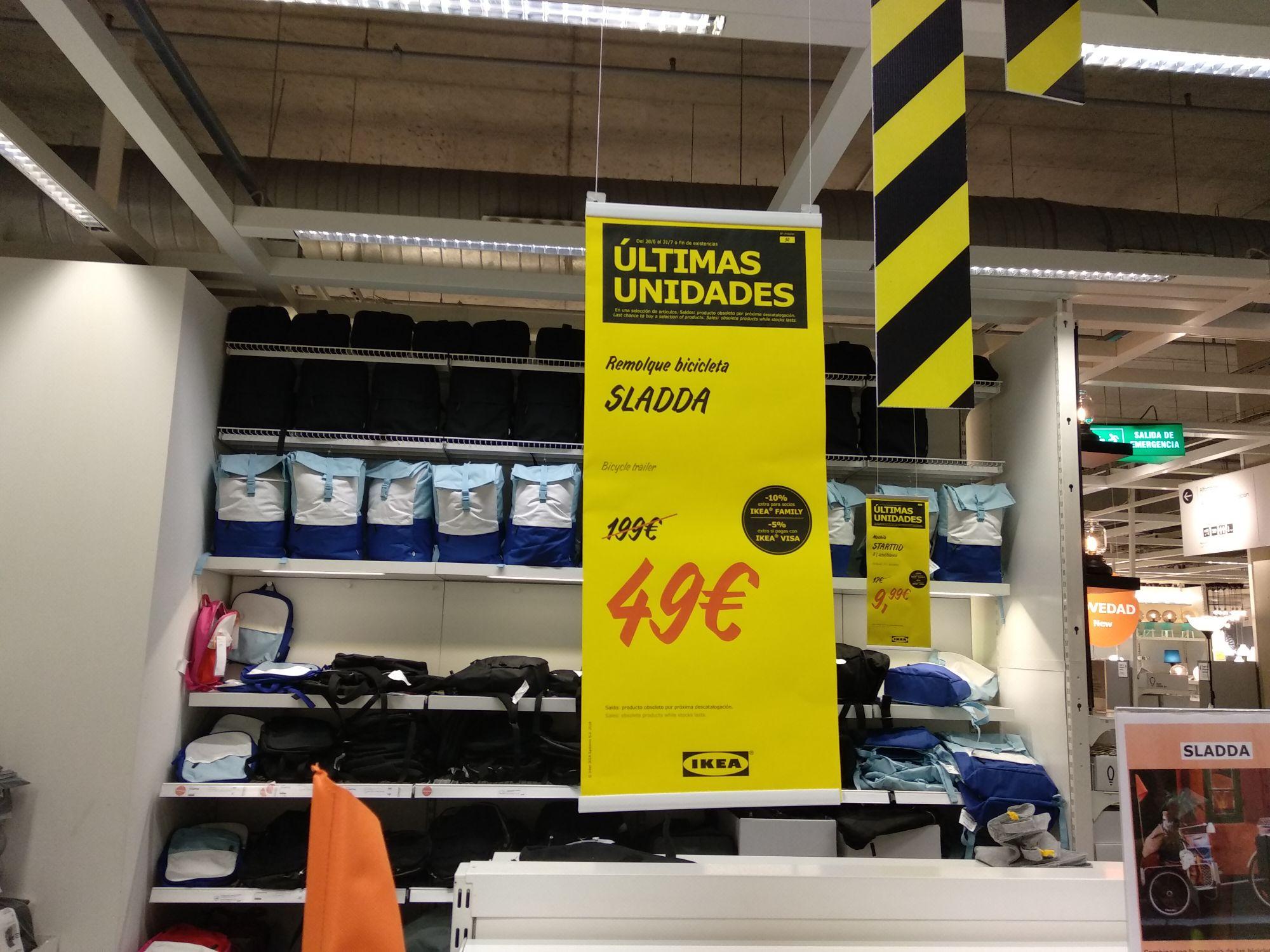Remolque bicicleta Sladda (Ikea Murcia)