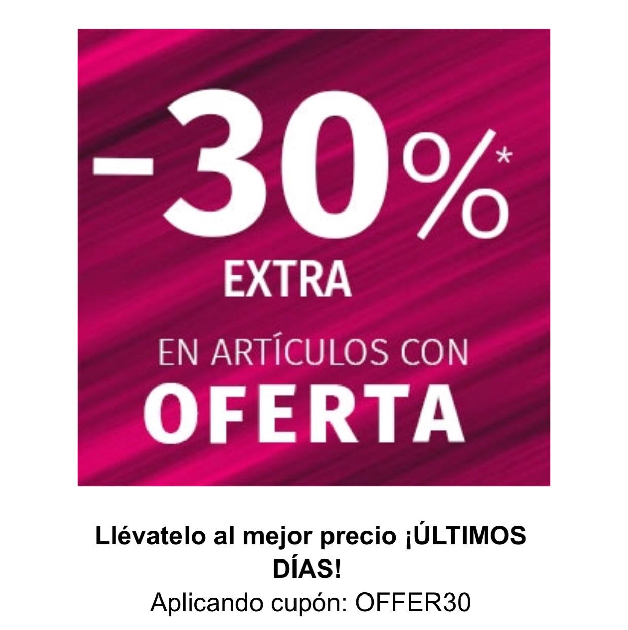 -30% Zacaris adicional en productos de Rebajas