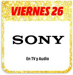DESCUENTAZO DEL 20% EN SONY TV y audio!!!!
