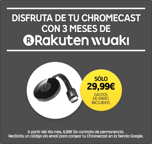 Chromecast 2 con 3 meses suscripcion de Rakuten TV