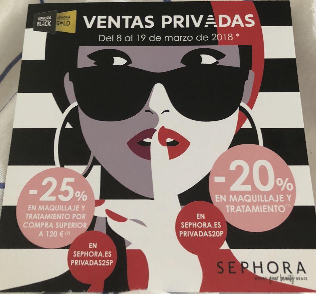 20% de descuento en sephora online y sephora tienda física (sin compra minima)