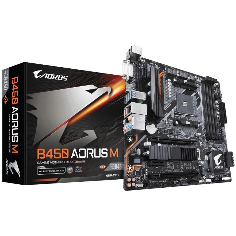 Gigabyte B450 AORUS M (rev. 1.0), DDR4-SDRAM